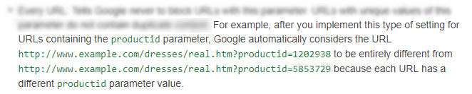 Processing and crawling GET parameters in the Google Search Console