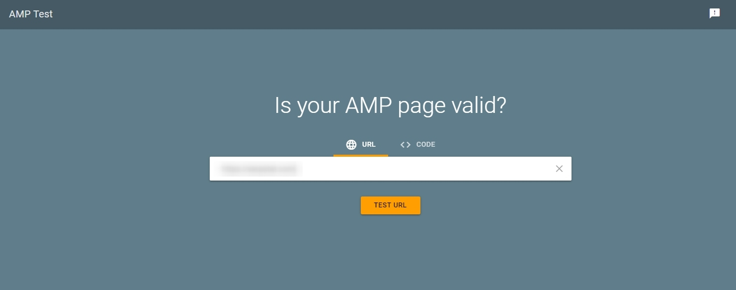 Checking AMP Google Pages