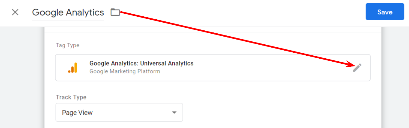 Tag editing in Universal Analytics