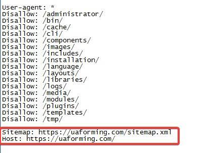 Link to the sitemap in robots.txt and the Host directive