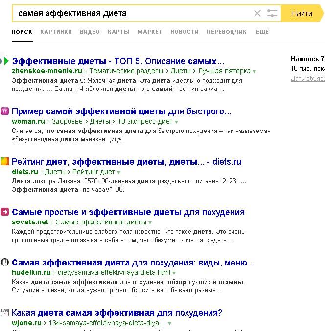 Скриншот выдачи топ-5,5 Яндекс