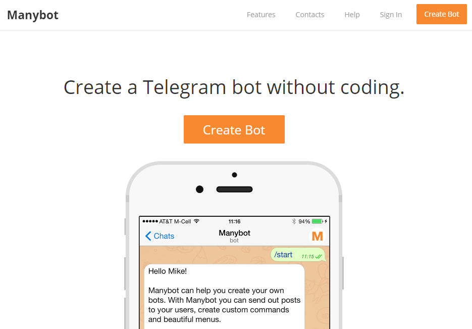 How to create a voice chat bot on telegram