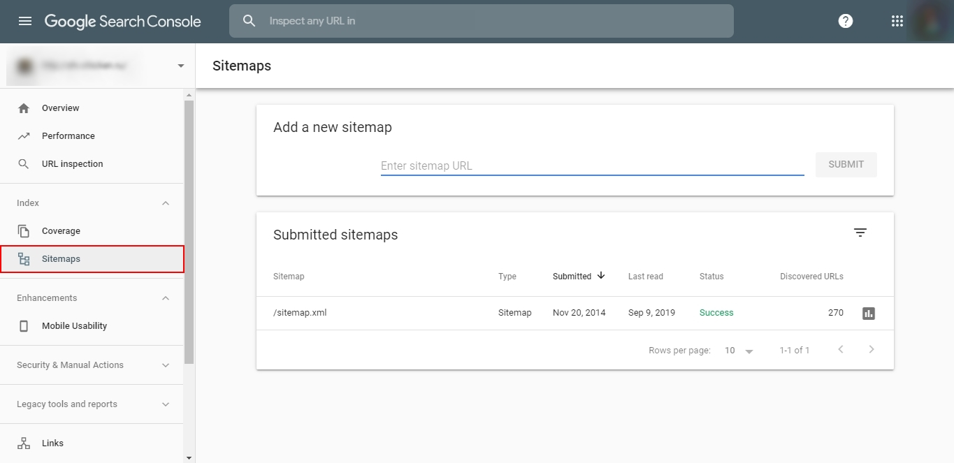 Sitemap loading to Google Search Console