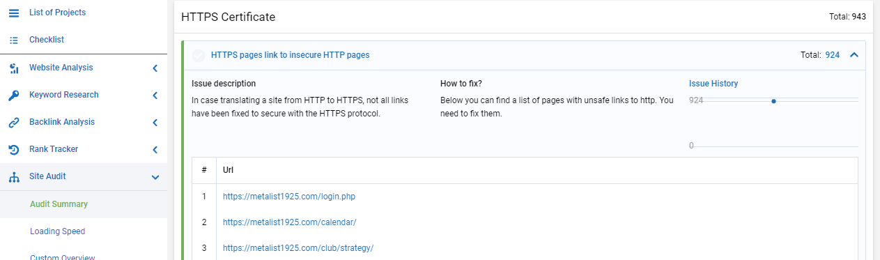 HTTPS pages link to insecure HTTP pages