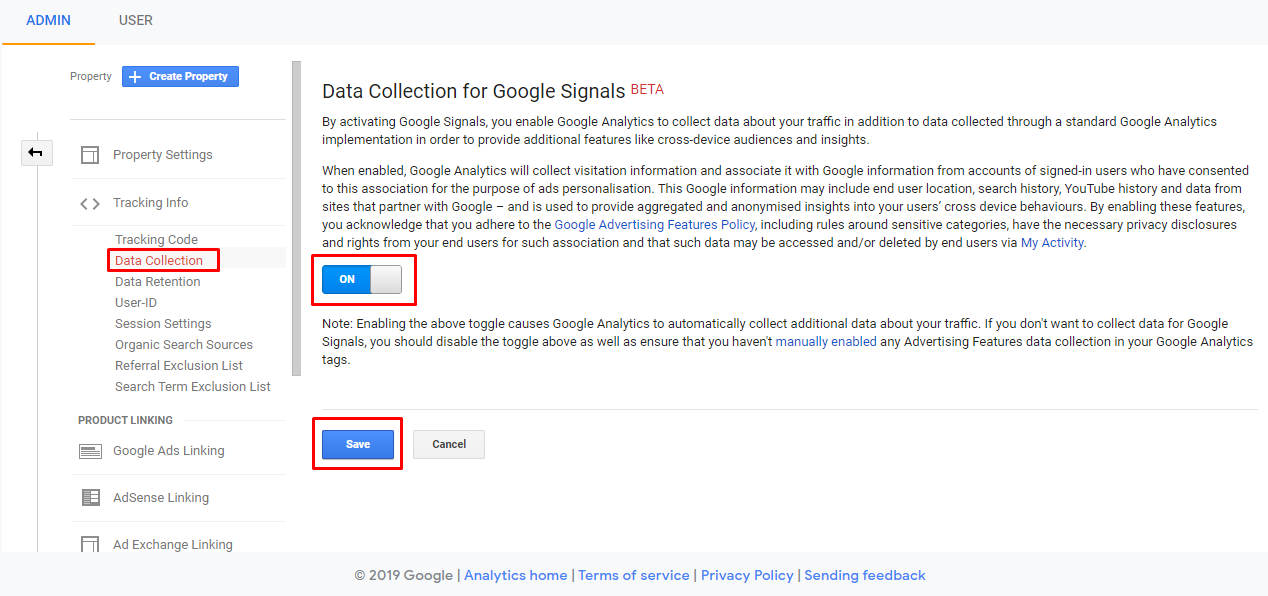 Data Collection for Google Signals