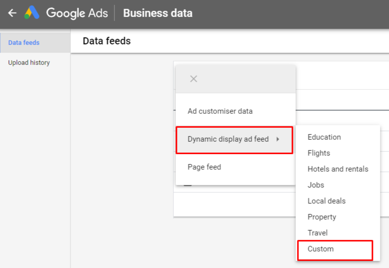 How to create a Google Adwords data feed