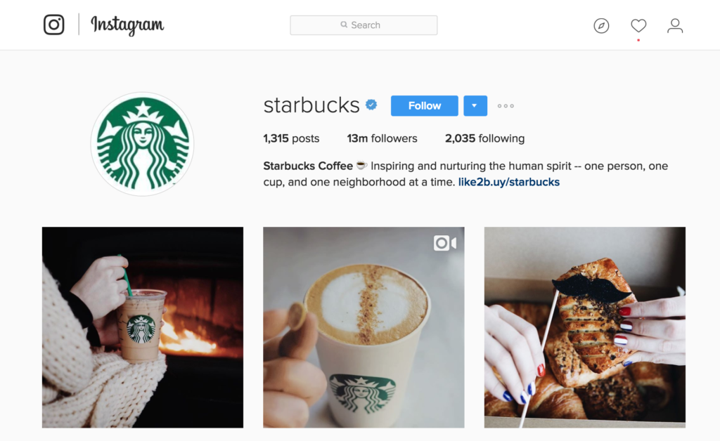 Instagram Business Account Example