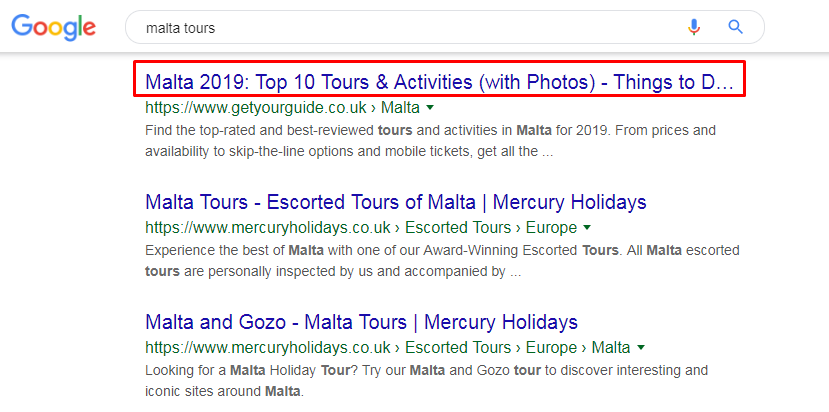Display Title in search results
