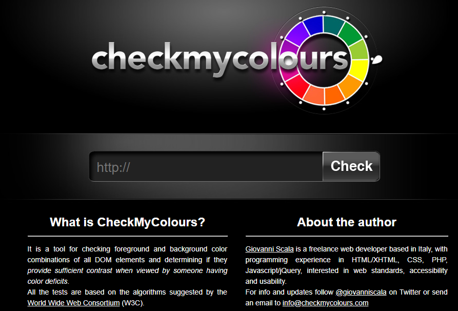 Color combinations testing checkmycolours